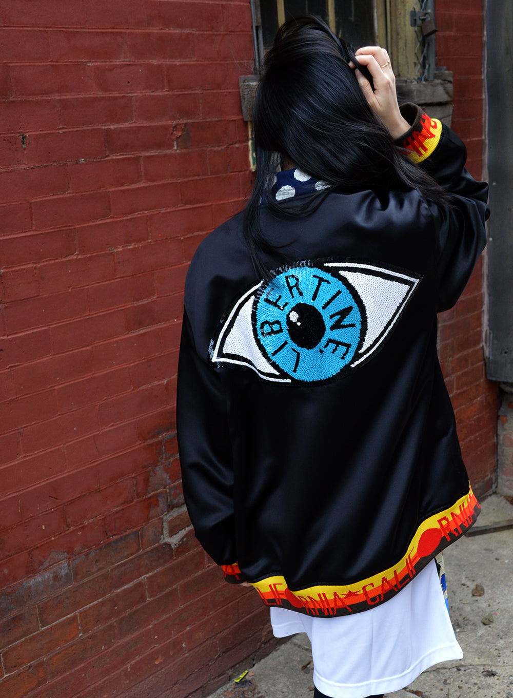 LIBERTINE | Paillette 'Evil Eye' Bomber Jacket