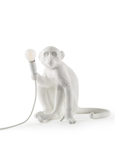 SELETTI | Resin Monkey Lamp Sitting
