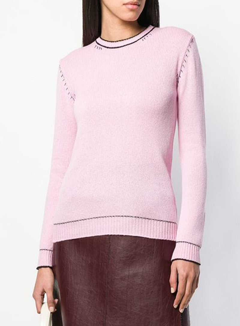 MARNI | Button-Down Back Cashmere Knit Sweater