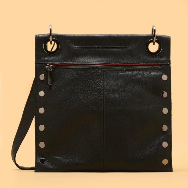 Hammitt | Montana Reversible Black/Gunmetal Medium Crossbody Bag
