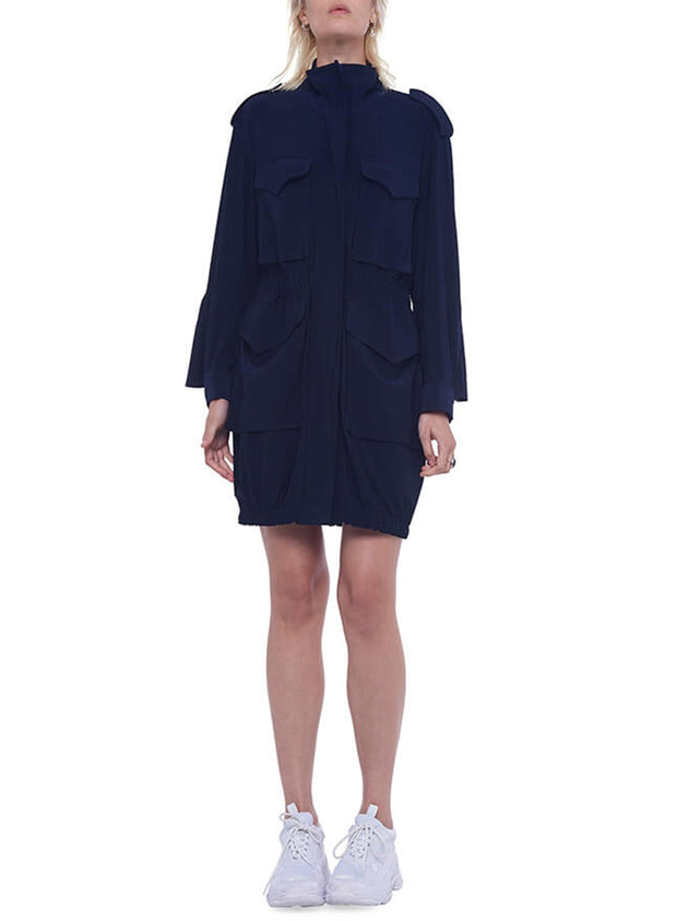 NORMA KAMALI | Turtle Cargo Dress in Midnight