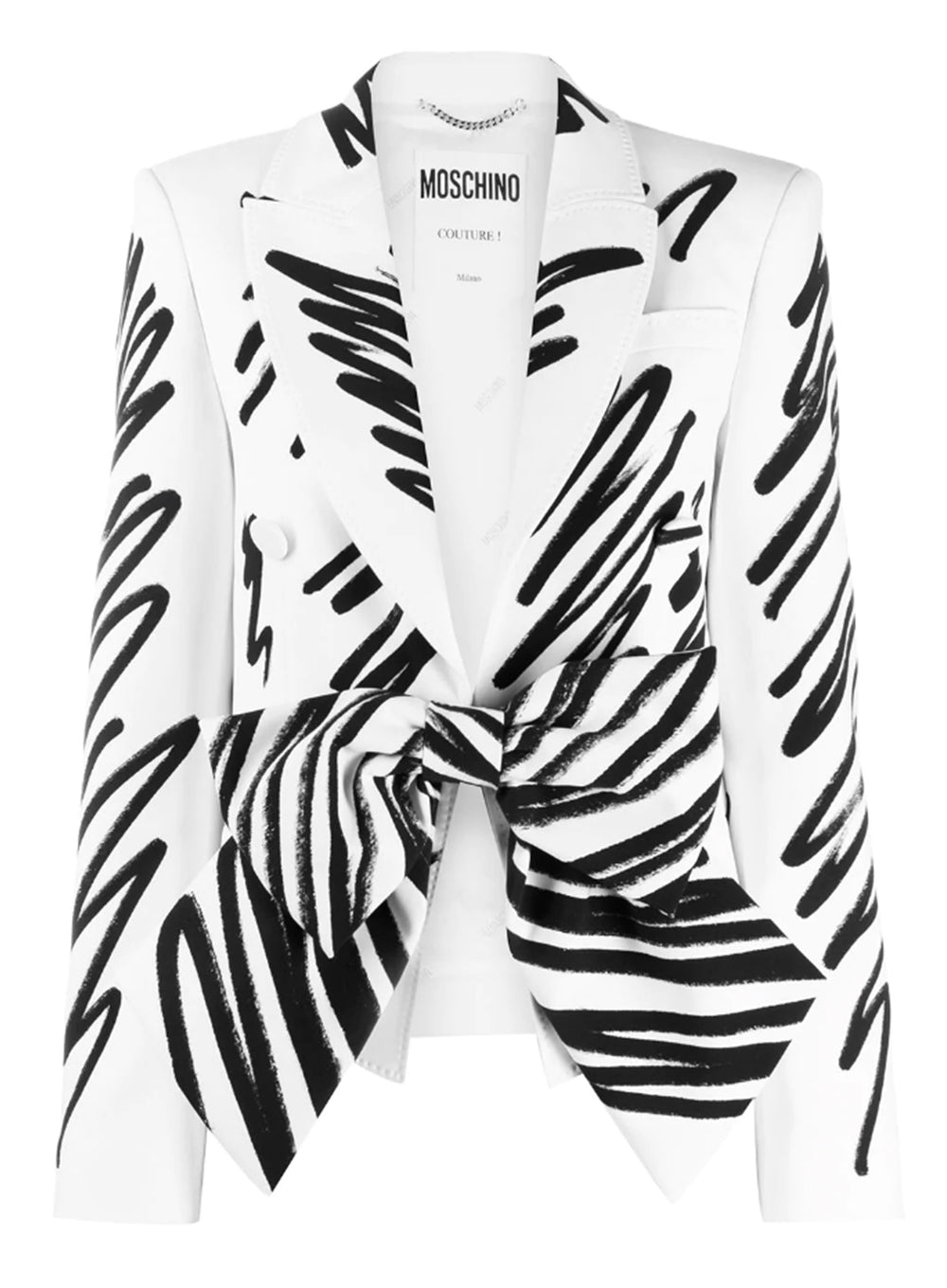 MOSCHINO | Painted Bow Detail Blazer