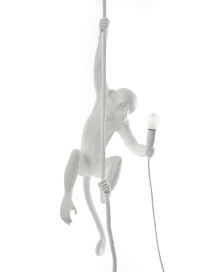 SELETTI | Resin Monkey Lamp on Rope