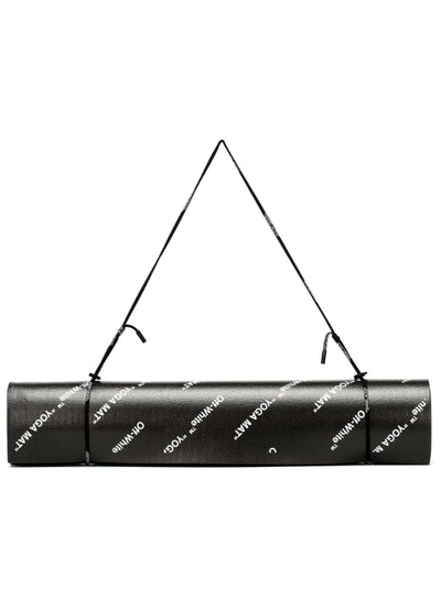 OFF-WHITE | Black & White Logo 'Woman' Yoga Mat
