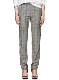 CALVIN KLEIN 205W39NYC | Plaid Worsted Wool Straight-Leg Trousers With Side-Stripes