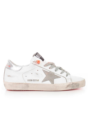 GOLDEN GOOSE | Low-Top Superstar Sneakers in White/Orange