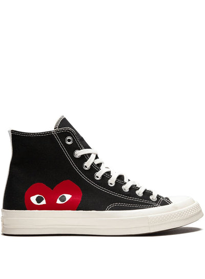 COMME DES GARÇONS PLAY | Unisex Chuck Taylor 1970s High-Top Sneakers in Black