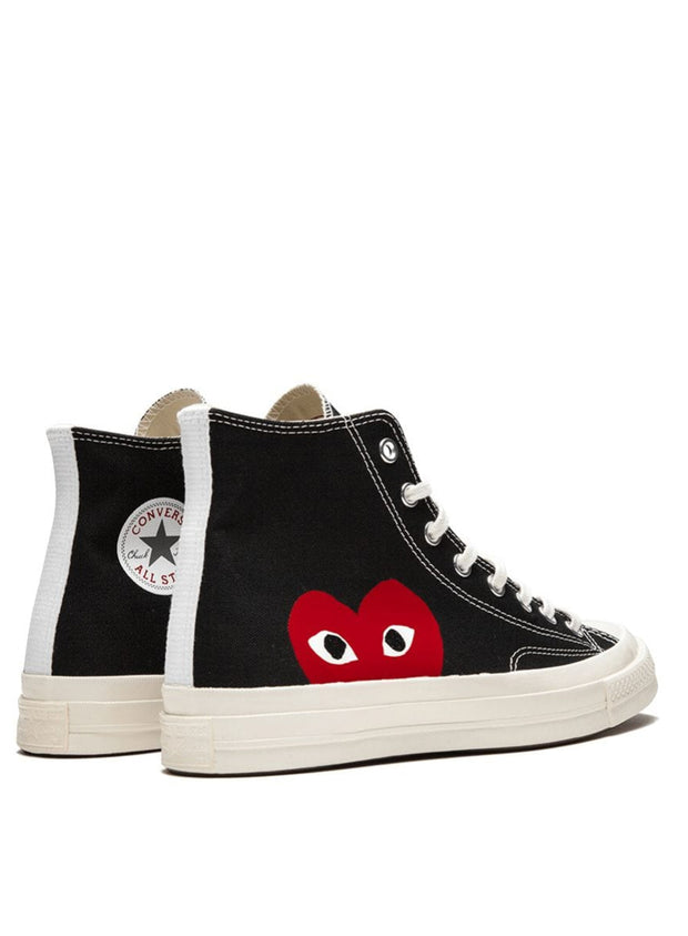 COMME DES GARÇONS PLAY | Chuck Taylor High-Top Sneaker in Black