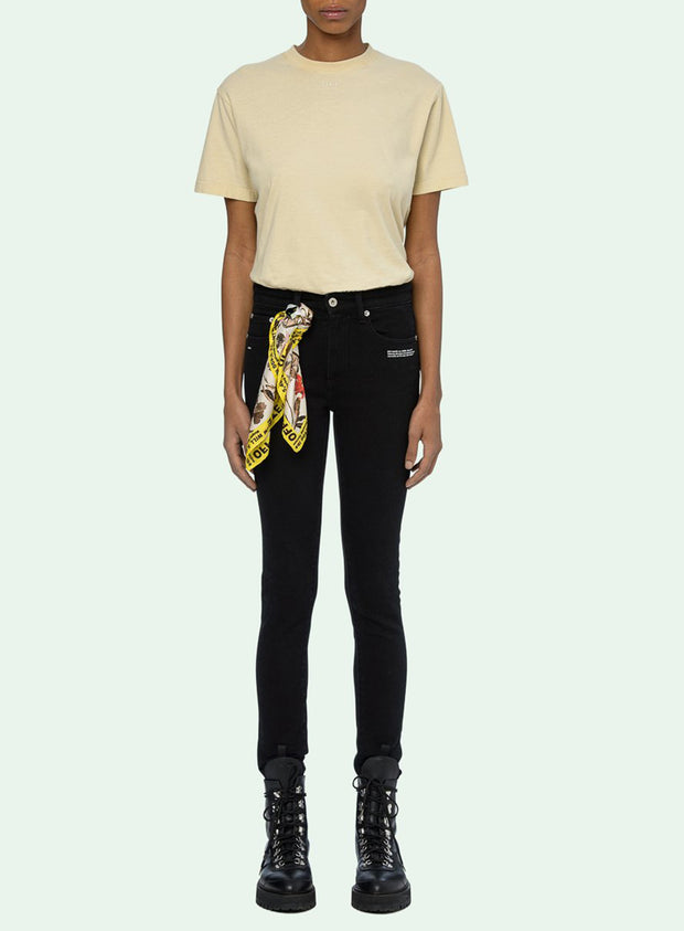 OFF-WHITE | Skinny Leg Vintage, Black