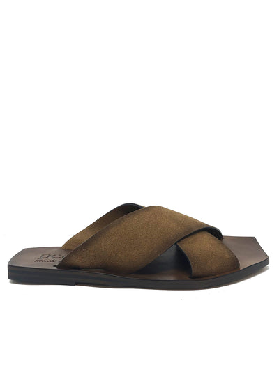 PEDRO GARCIA | Cross Leather Slide Sandal