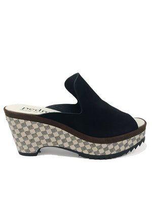 PEDRO GARCIA | 'Floretta' Wedge In Black Check