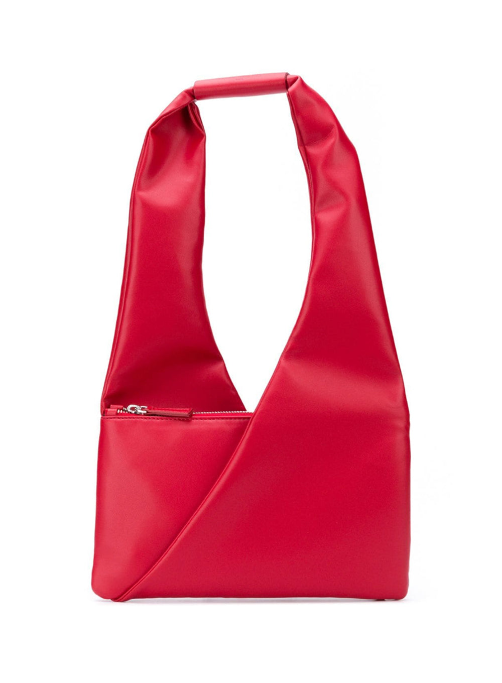 MM6 MAISON MARGIELA | Red Leather Triangle Shopper Bag