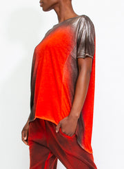 AVANT TOI | Metallic Laminated T-Shirt in Paprika