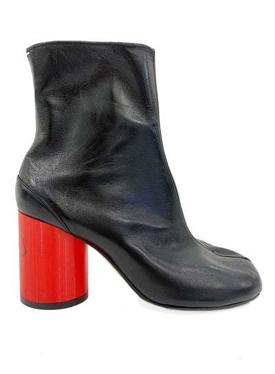 MAISON MARGIELA | Tabi 'Love You' Ankle Bootie With Red Heel