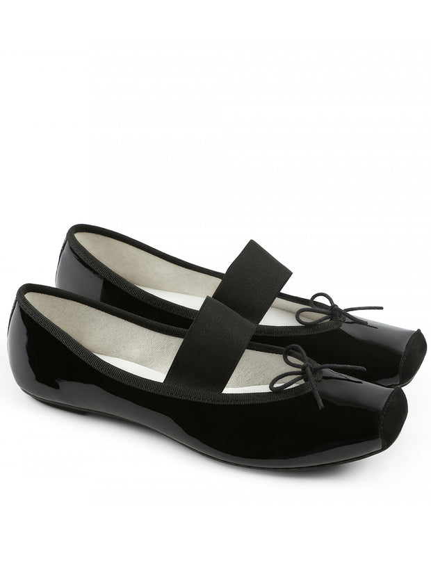 REPETTO | Catherine Ballerina Shoe in Black Patent