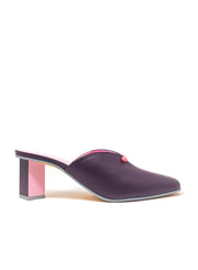 GRAY MATTERS | Dot Mule in Plum & Pink