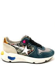 GOLDEN GOOSE | Tweed Check Running Sneakers