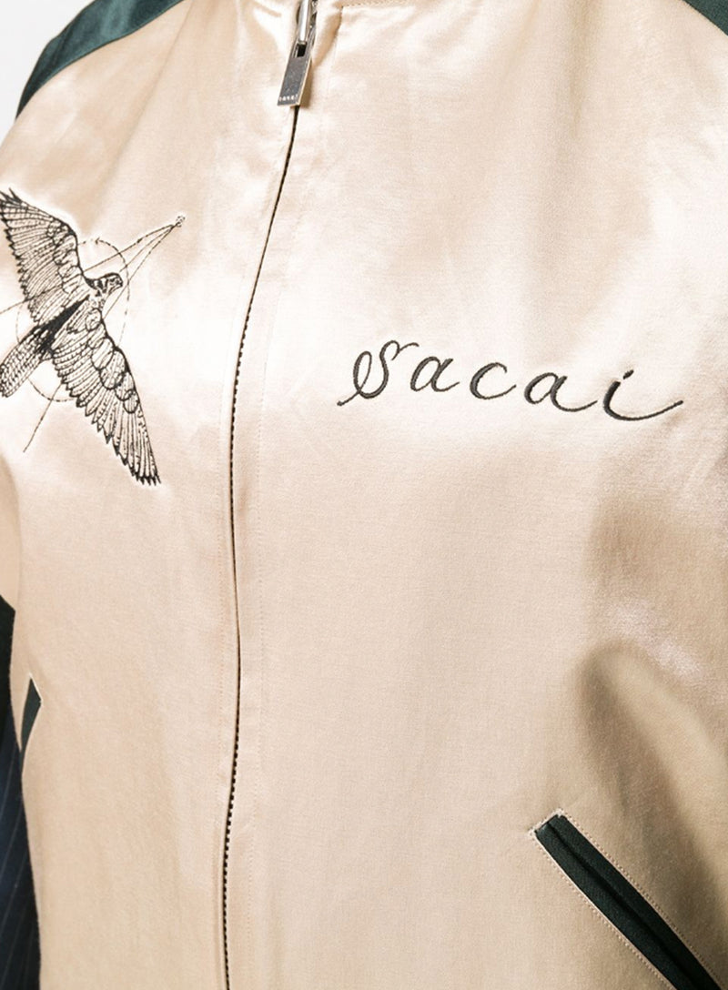SACAI | Dr. Woo Hawk Embroidered Bomber Jacket