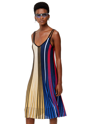 KENZO | Pleated Colorblock Knit Dress