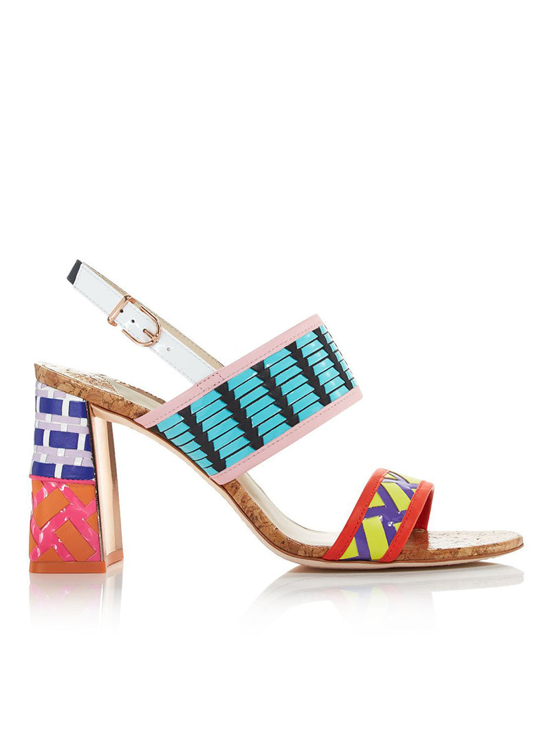 SOPHIA WEBSTER | Multicolor 'Celia' High-Heel Leather Sandals