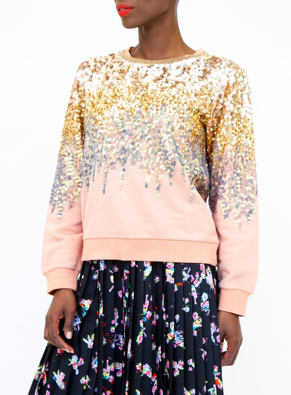 UGLY GIRL | 'Sandalwood' Ombre Sequin Sweatshirt