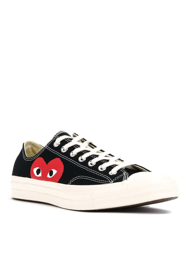 COMME DES GARÇONS PLAY | Unisex Chuck Taylor 1970s Low-Top Sneakers in Black