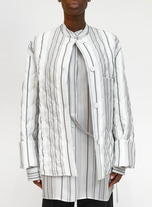 JIL SANDER | 'Giusy' Quilted Striped Jacket