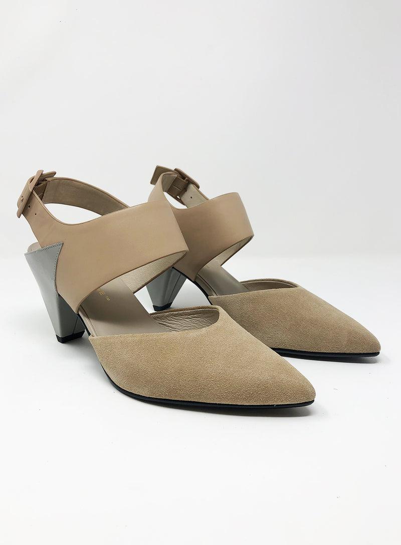 UNITED NUDE | Delta Dorsey Pump in Nude & Grey