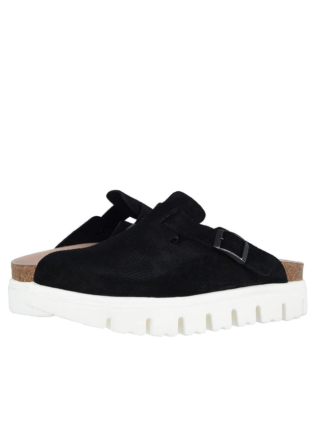 BIRKENSTOCK | Boston Chunky Mule in Black/White