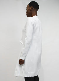 COMME DES GARÇONS | Cardigan With Slit in Off White