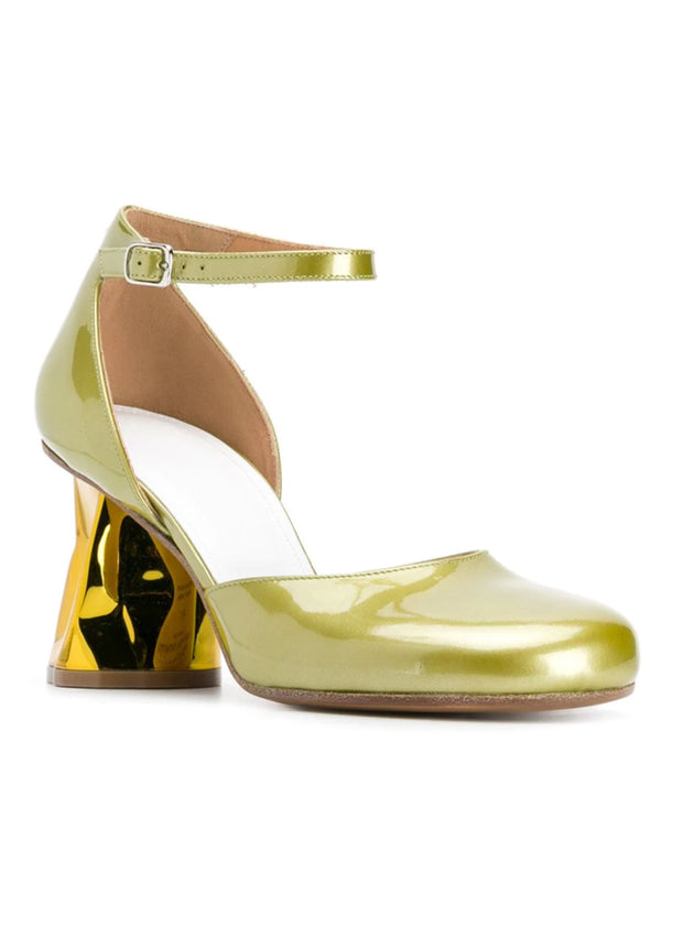 MAISON MARGIELA | Metallic Block Heel Pumps