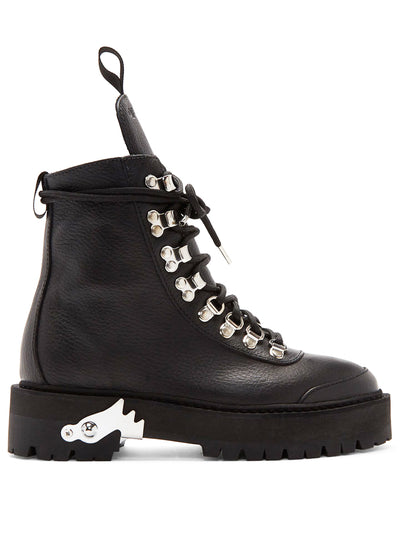 OFF-WHITE | Leather Hiking Boot, Black