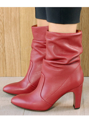 CHIE MIHARA | Slouchy 'Edil' Ankle Boot in Red
