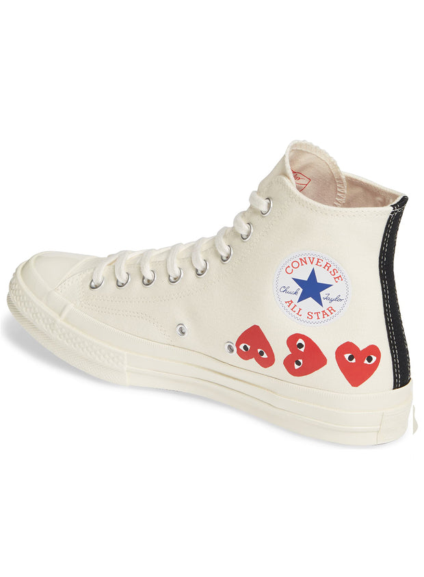 COMME DES GARÇONS PLAY | Unisex Chuck Taylor 1970s High-Top Sneakers in Off White
