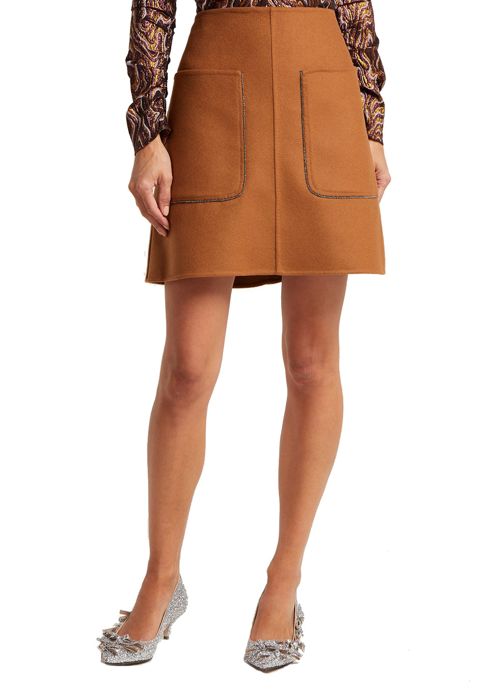 N°21 | Midi A-Line Skirt in Camel