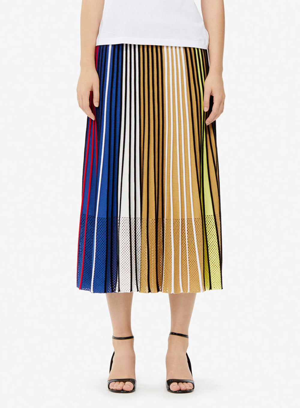 e88838c92 KENZO | Pleated Colorblock Knit Skirt
