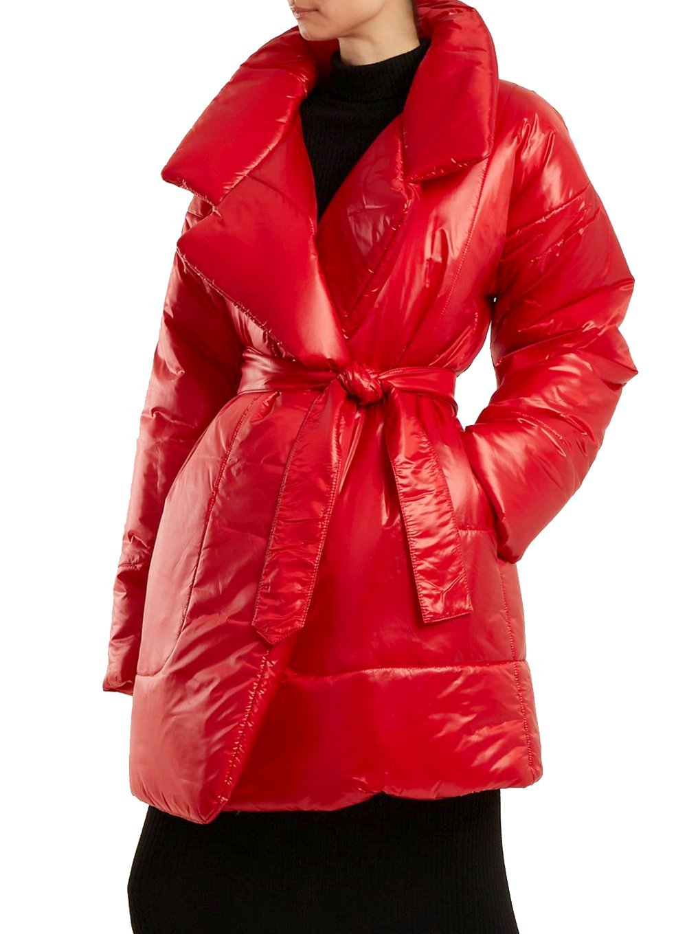 NORMA KAMALI | Sleeping Bag Coat in Red