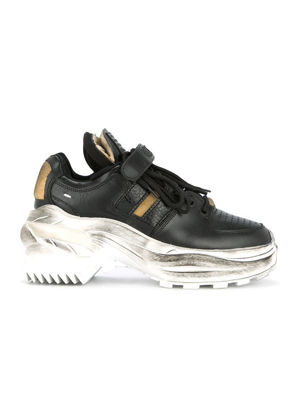 MAISON MARGIELA | Black Leather Platform Sneakers