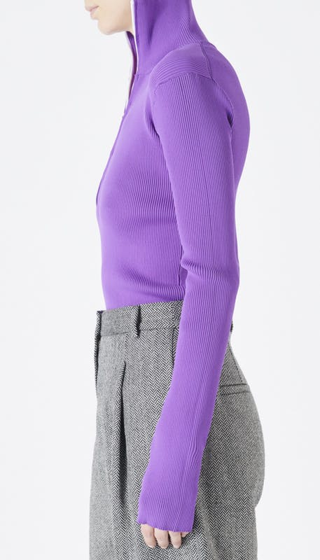 TIBI | Track Zip-Up Pullover Sweater