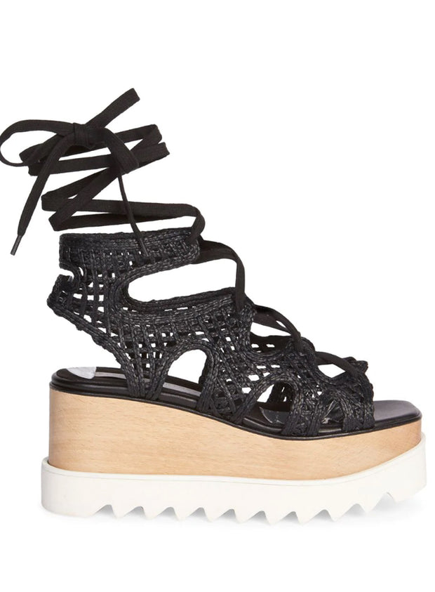 STELLA MCCARTNEY | Elyse Woven Platform Wedge Sandals