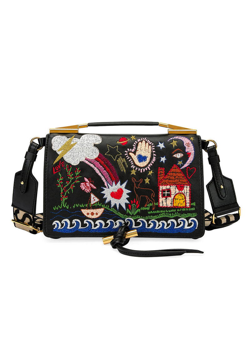 STELLA MCCARTNEY |  Alter Napa Scenery Embroidered Shoulder/Crossbody Bag