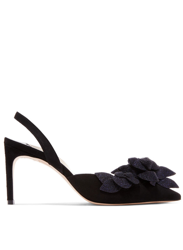 SOPHIA WEBSTER | Jumbo Lilico Slingback Pumps in Black/Navy
