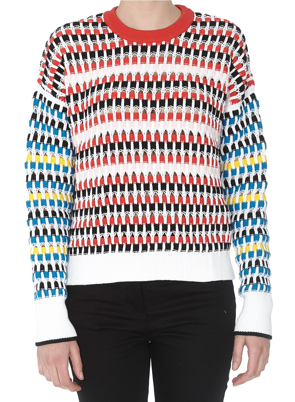 KENZO | Multicolor Lacehole Check Sweater