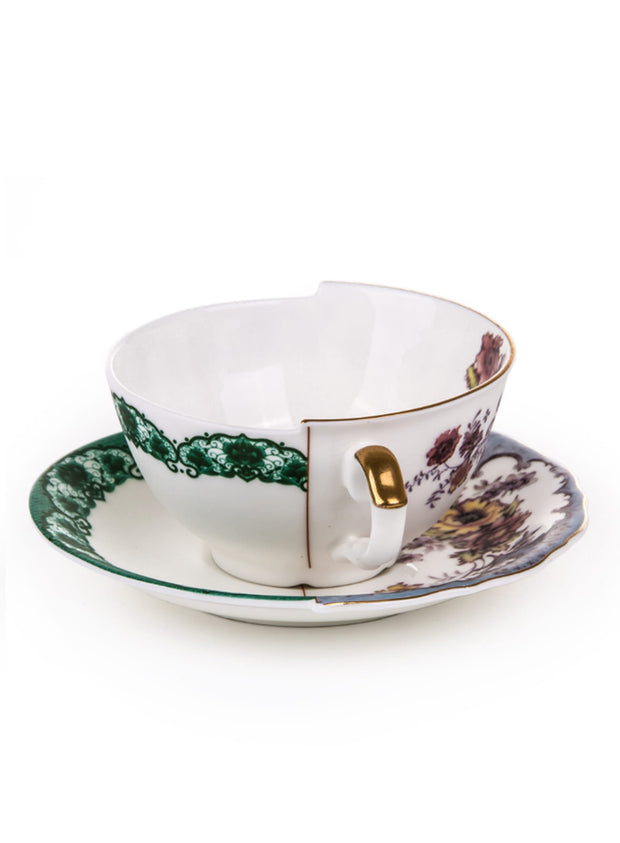 SELETTI | Hybrid Bone China Teacup & Saucer, Isidora