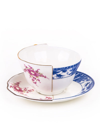 SELETTI | Hybrid Bone China Teacup & Saucer, Zenobia