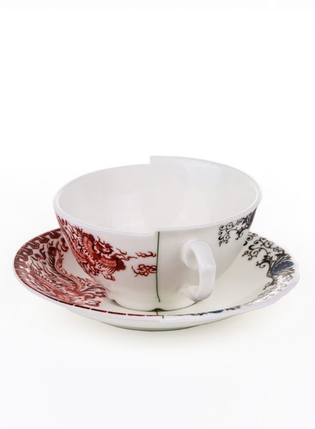 SELETTI | Hybrid Bone China Teacup & Saucer, Zora