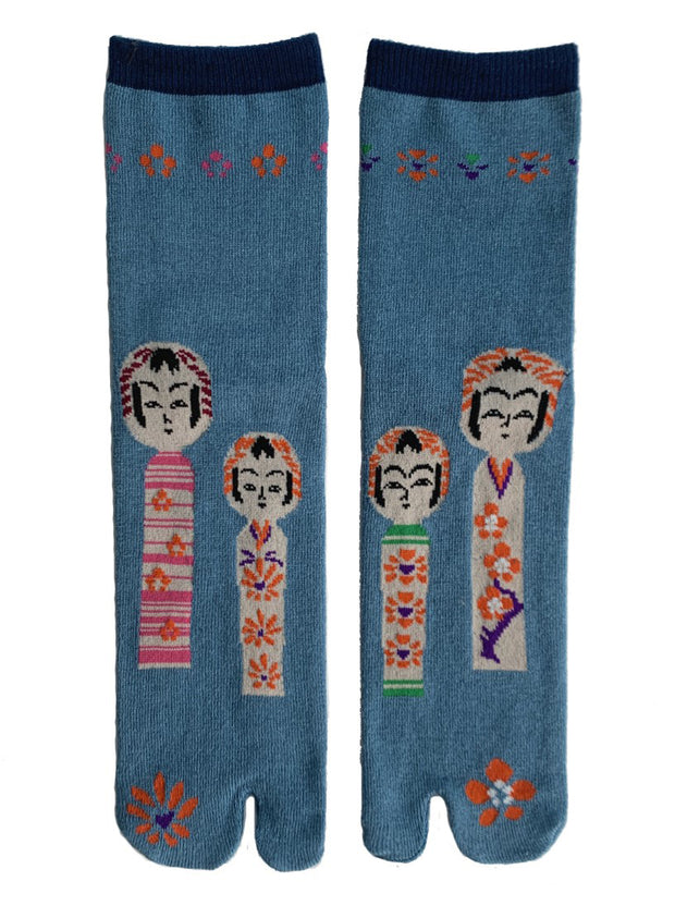 NINJA SOCKS | Kokeshi Doll Tabi Socks in Dusty Blue