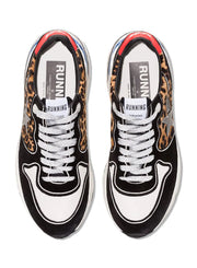 GOLDEN GOOSE | Running Leopard-Print Panel Sneakers