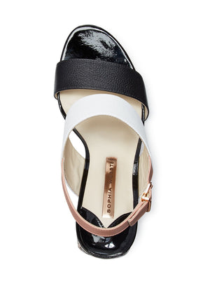 SOPHIA WEBSTER | 'Celia' Leather High-Heel Sandals in Black/Neutral