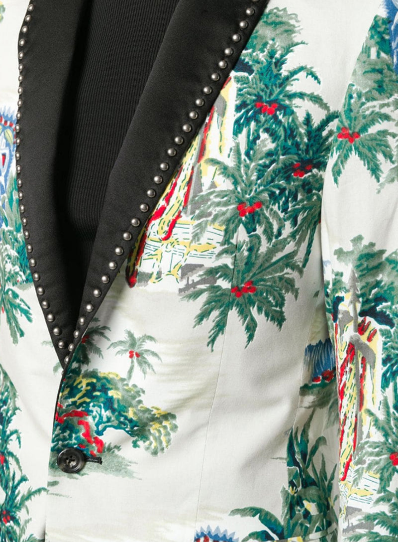 R13 | Tropical Pattern Blazer